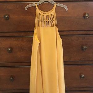 Lulu's Mustard Swing Mini Dress